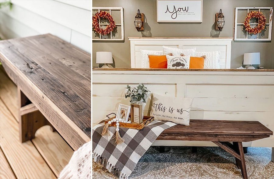 Rustic Reclaimed Wood Bench Decor Steals, Affordable Reclaimed Wood Furniture