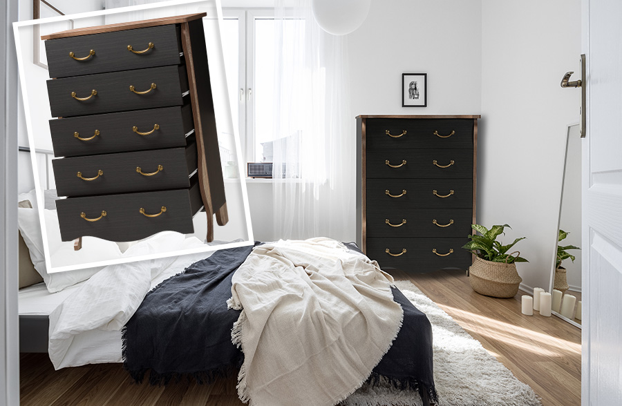 French Country Styled Two Toned Tall Dresser