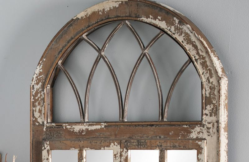 Huge Arched Window Pane Mirror, Arched Window Pane Mirror Large