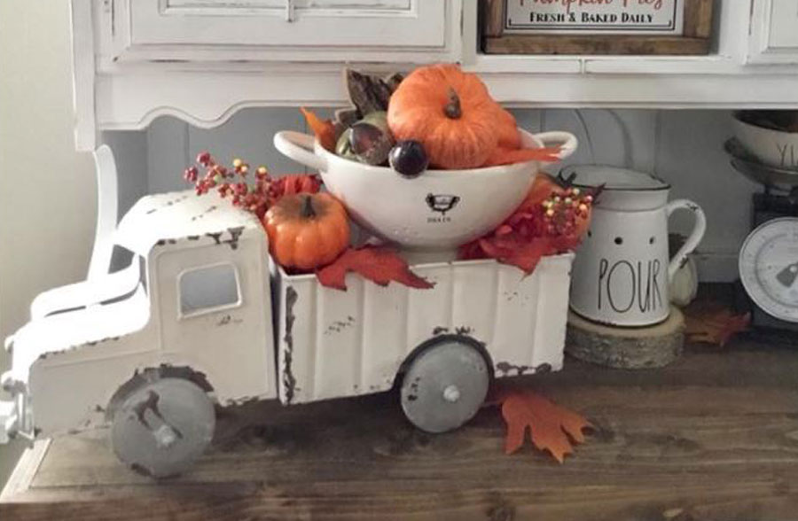 Distressed White Truck Planter, , large image number 9